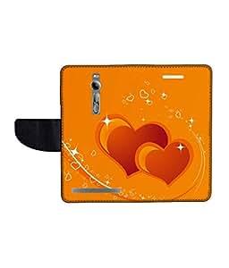 KolorEdge Printed Flip Cover For Asus Zenfone 2 -Multicolor (55KeMLogo10320Zen2)