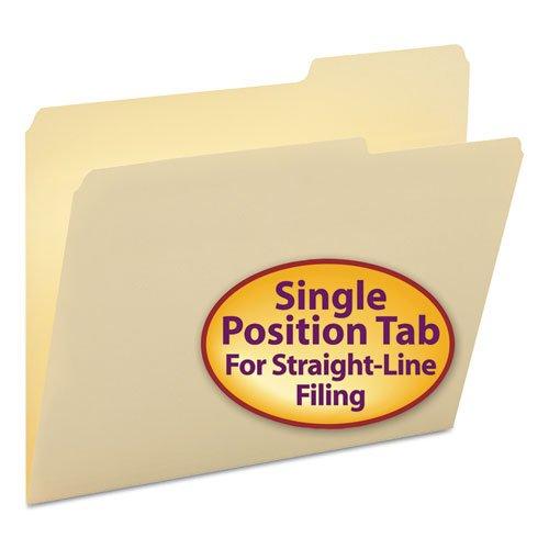 Smead - Guide Height File Folders, 2/5 Cut Right Top Tab, Letter, Manila, 100/Box 10385 (Dmi Bx