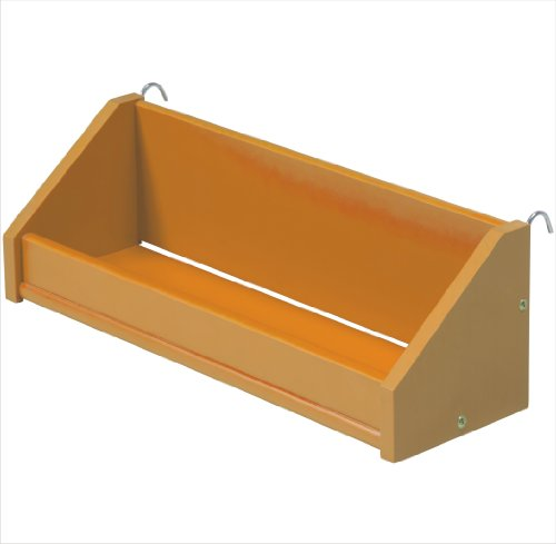 Large Clip on Wooden Shelf, Solid Pine, Fano Style, Universal Design, Choice of Colours (Orange)