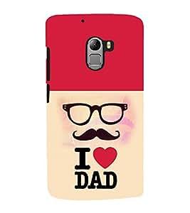 Fuson Premium Love You Dad Printed Hard Plastic Back Case Cover for Lava Pixel V1