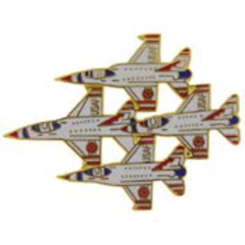 F-16 Fighting Falcons In Diamond Formation Pin 1 3/4