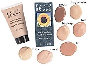 Ecco Bella FlowerColor Liquid Foundation SPF 15, Natural 1 Ounces by Ecco Bella