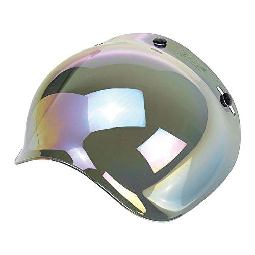 Visière bulle Biltwell miroir arc-en-ciel pour casque de moto, DMD Bandit Yam...