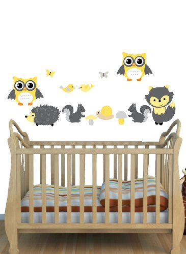 Yellow And Gray Baby Nursery