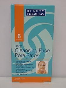 Beauty Formulas Deep Cleans Face Pore Strips - 6 Sachets