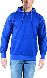 vibgyor Men's Cotton Sweatshirt (VSWFQIBWBN_40, Blue, 40)