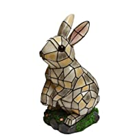 Solar Lighted Rabbit Accent Light -- Landscape Ornament Product SKU: SO10246