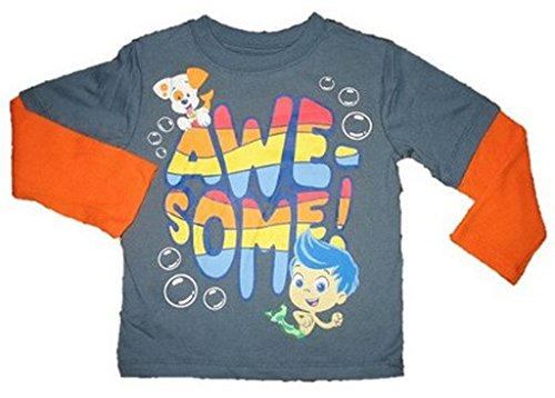 """Bubble Guppies Toddler Boy Long Sleeve """"Awesome"""" Graphic T-Shirt (5T) front-1031224"""