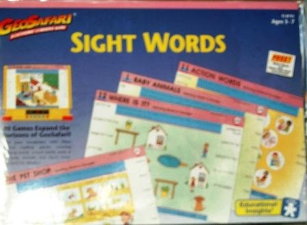 GeoSafari Sight Words Game Cards - 1