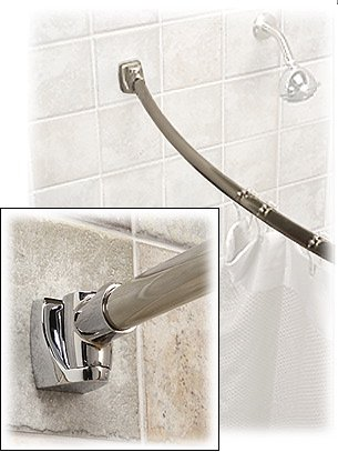 5 ft. Curved Shower Rod - Polished Stainless Steel