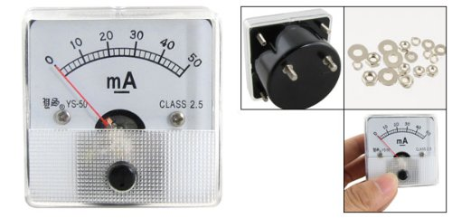 Class 2.5 Accuracy DC 0-50mA Analog Panel Meter Ammeter katalog water meter amico