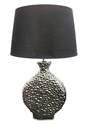 Silver Crater Metallic Lamp