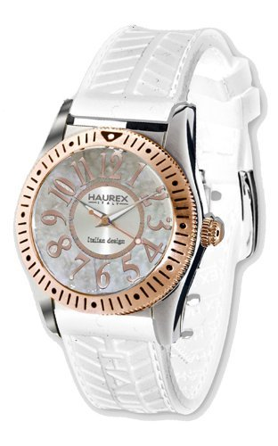 HAUREX ITALY Promise White Dial Watch #1D331DWH- Orologio da donna