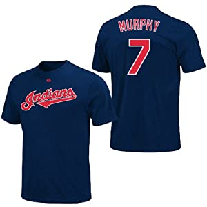 David Murphy Cleveland Indians Navy Player T-Shirt by Majestic by Majestic