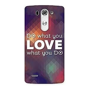 Ajay Enterprises Do Love Print Back Case Cover for LG G3 Mini