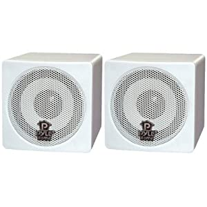 Bargain Pyle Pcb3wt 3 100w Mini Cuble Bookshelf Speakers White