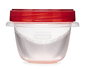 Rubbermaid TakeAlongs Twist and Seal Food Storage Containers, 1.2-Cup, Clear, Set of 4