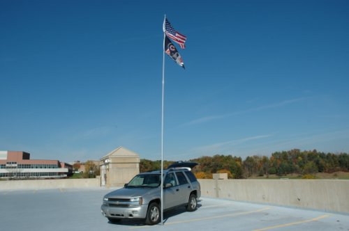 Flagpole To Go 28-Foot Fiberglass Portable Flagepole