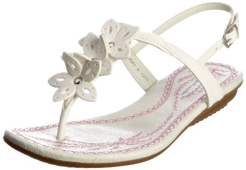 Hush Puppies Women's Vicky White Thong Sandals