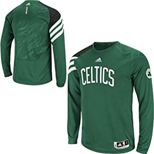 Boston Celtics Mens On-Court Long Sleeve Shooting Shirt adidas NBA by adidas