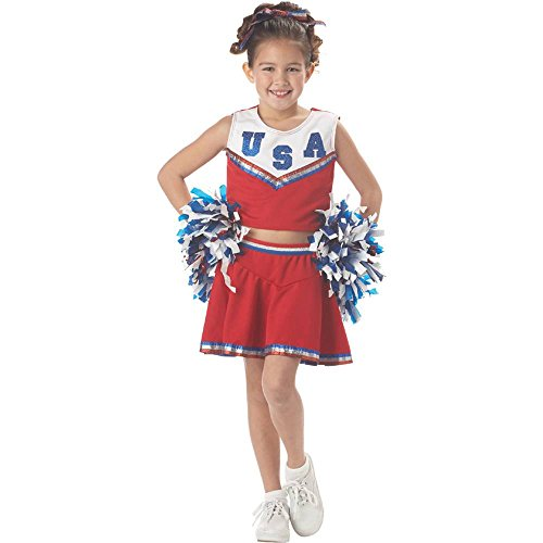 Patriotic Cheerleader Kids Costume