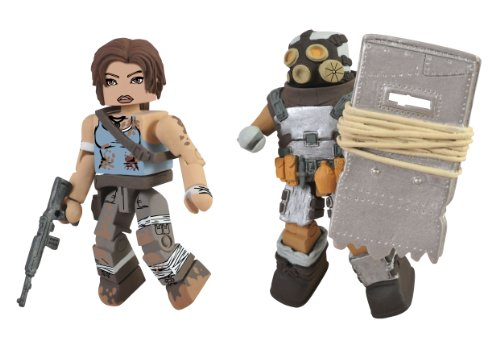 Diamond Select Toys Tomb Raider Battle Damaged Lara Croft and Armoured Scavenger Action Figure, 2-Pack