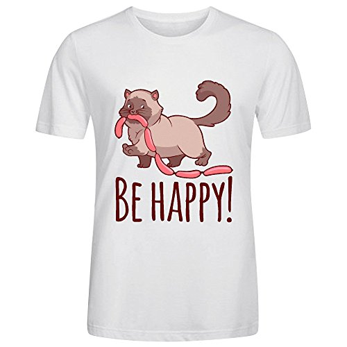 Be Happy Man's Tees White (Prostate Plug Metal compare prices)