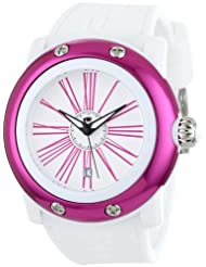 Glam Rock Women's GR62012 Miami Beach White Dial White Silicone Watch