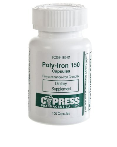 Polyiron Capsules, POLY-IRON 150MG CPL 100/BX - 1 BX, 1 BX (Poly Iron 150 Capsules compare prices)