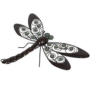 La Hacienda Dragonfly Handmade Metal Wall Art With Glow In The Dark Beads from La Hacienda