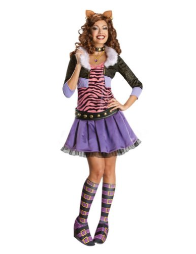 Monster High Clawdeen Wolf Adult Costume Lg Adult Womens Costume