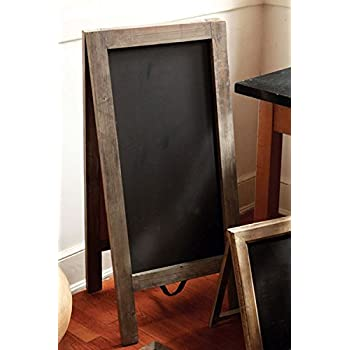 Vagabond Vintage, X-Large Standing Two-Sided Chalkboard with Rustic Recycled Pine Frame