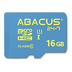 Abacus24-7 16 GB Memory Card [microSD, UHS-I, Class 10] for Cell Phones and Tablets [with SD Adapter]