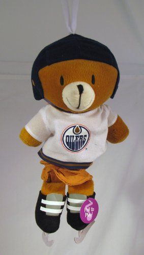 Edmonton Oilers Musical Plush Pull Down Bear Baby Toy