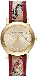 Burberry Piping Check Leather Ladies Watch BU9137