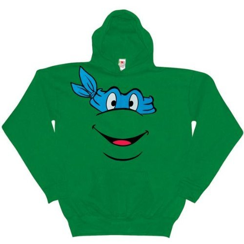 Old Glory Mens Teenage Mutant Ninja Turtles - Leonardo Pullover Hoodie / Green - XX-Large Green