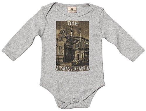 die ausrasterfrabrik baby spieler baby strampler baby geschenk in milcht te melange grau. Black Bedroom Furniture Sets. Home Design Ideas