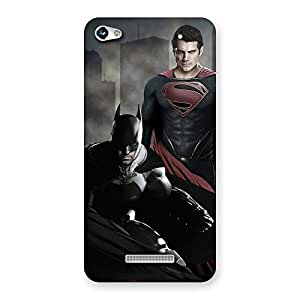 Delighted knight Vs day Ready Multicolor Print Back Case Cover for Micromax Hue 2