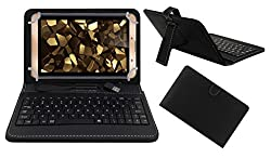 Acm Premium Usb Keyboard Case For Iball Slide Snap 4g2 Tablet Cover Stand With Free Micro Usb Otg - Black