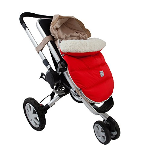 7AM Enfant Lamb Pod Cover for Strollers and Car-Seats, Red, Medium/Large