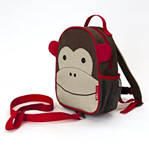 Skip Hop ZooLet Monkey - Toddler Backpack with Safety Harness and Parent Rein