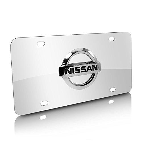 Nissan Chrome Logo On Stainless Steel License Plate (Nissan Chrome License Plate compare prices)