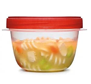 Rubbermaid TakeAlongs Twist and Seal Food Storage Containers, Set of 4, 1-cup, Chili