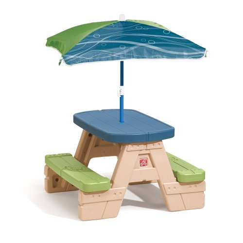 Step2 Sit and Play Picnic Table with Umbrella (Kids Picnic Table Outdoor compare prices)