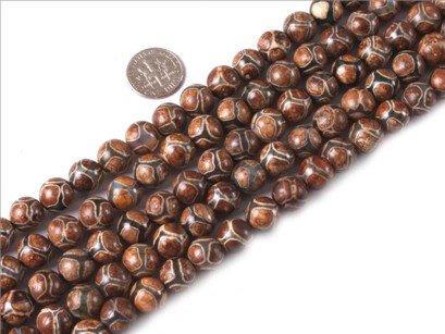 10mm round gemstone agate beads strand 15
