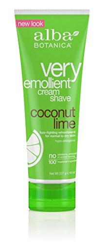 Alba Botanica Very Emollient, Coconut Lime Shave Cream, 8 Ounce