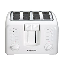 Factory Reconditioned Cuisinart CPT-140 Electronic Cool Touch 4-Slice Toaster, White