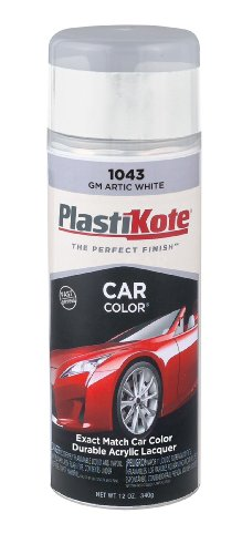 PlastiKote 1043 GM Arctic White Automotive Touch-Up Paint - 11 oz.