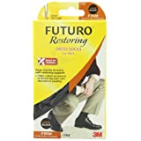 FUTURO TM by 3M Restoring Dress Socks for Men - Firm Compression 20-30 mm/Hg : Large (UK 9-11)by Futuro
