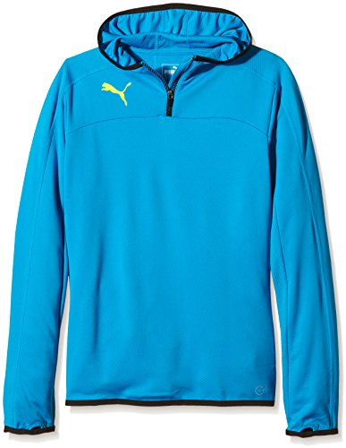 Puma 654939 53_Atomic Blue-Black_152 - Felpa Bambini, 152, colore: Blu Atomic Blue-Black